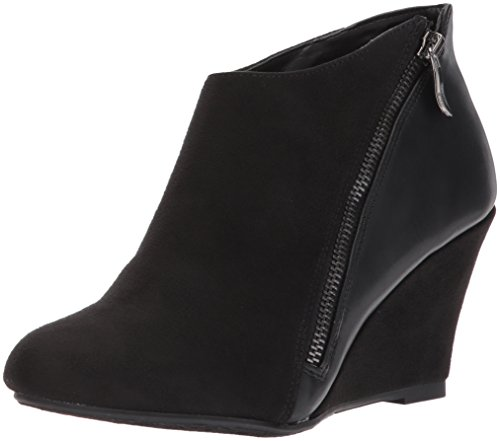 CL by Chinese Laundry Women's Viola Ankle Bootie, Black Suede-Calf, 8.5 M US