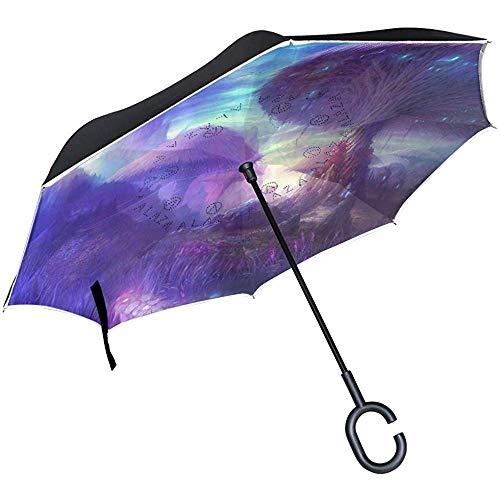 Alice Eva Reverse Umbrella Dreamy en Fantasy dubbele laag voor auto