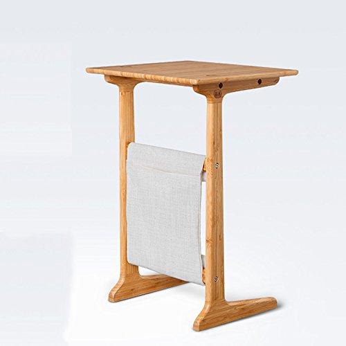 FBARTL Canapé Table Super Top pour Ordinateur Portable Amovible TV Plateau Console/côté/Snack/Fin Table à café pour lit Canapé Manger écriture Lecture Salon, Bambou, Naturel, W15.75 xD13.78 XH 24\