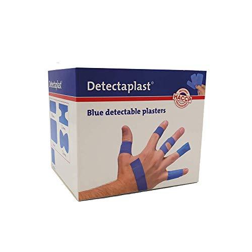 Detectaplast Pflaster wasserfest Universal, blaue Wundpflaster für den Lebensmittelbereich, detektierbare Pflaster für Erste Hilfe Sets, 19 x 72, 25 x 72, Fingerkuppen und Gelenk, 100 Stück