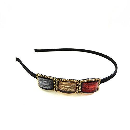 rougecaramel - Accessoires cheveux - Serre tête fantaisie perlé résine - multicolore