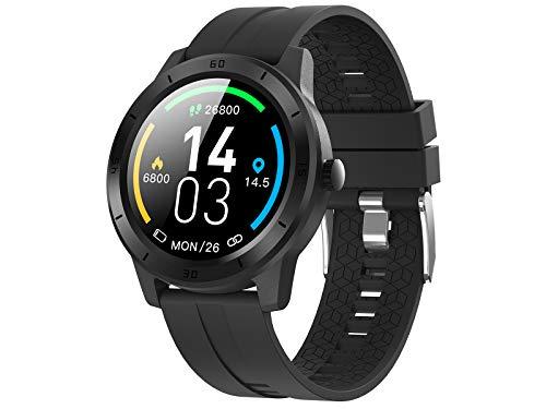 Trevi T-FIT 320 GPS Orologio Smart con GPS Tracker e Cardio Frequenzimetro, Monitoraggio Sonno e Attività Fisica, Tecnologia PPG, Resistente all'Acqua IP68, Bluetooth, Batteria Ricaricabile