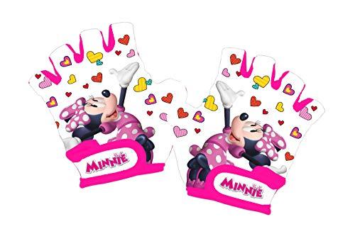 Disney Minnie Mouse - Guantes de Ciclismo para niña, Color Blanco, Talla XS
