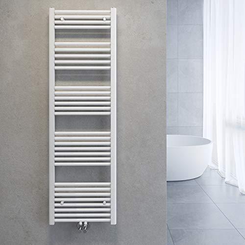 SONNI Badheizkörper Handtuchhalter Mittelanschluss 1600x500mm Weiß Handtuchtrockner Heizkörper Bad Gerade