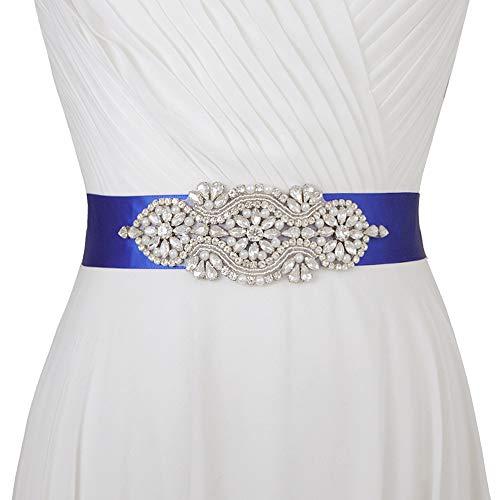 TOPQUEEN klein handgemaakte fonkelende strassbruidsgordel bruiloft sjasje voor dames strass bruid sjerp strass bruiloft sjasje, strass bruiloft riem, diamanten bruid riem