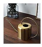 Cratone Regadera de Metal 1.5L Regadera para Interiores Regadera de Acero Inoxidable Vintage para Jardín/Bonsai/Plantas de Interior/Plantas Colgantes Oro