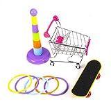 DaMohony Juego de juguetes para loros, carritos de la compra