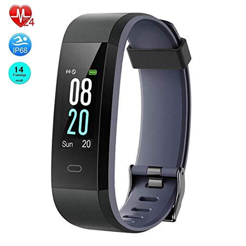 Orologio Fitness Tracker, Virtoba Color Screen Activity Tracker, contapassi impermeabile con cardiofrequenzimetro, orologio intelligente con contacalorie chiamate SMS Push e 14 modelli di esercizi