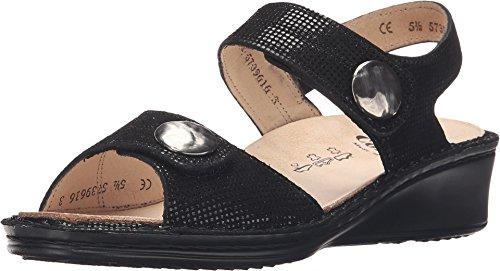 FinnComfort Alanya 02677410189 - Sandalias para mujer, color beige, color Negro, talla 42 EU