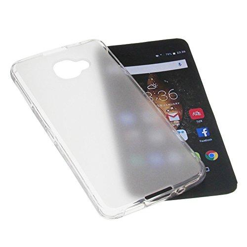foto-kontor Tasche für Alcatel One Touch Idol 4S Gummi TPU Schutz Handytasche milchig transparent