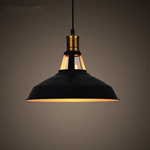 Beakjiful Industrial Vintage Lámpara de techo moderna para niños, lámpara colgante de salón, dormitorio, café de hierro forjado, Tout Blanc - Diamètre 270, Sans source de lumière