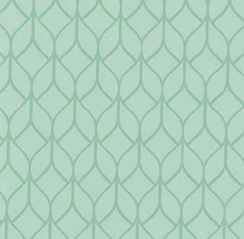 Klebefolie - Möbelfolie Hanna Ornamente grün Dekorfolie 45 cm x 200 cm Selbstklebefolie