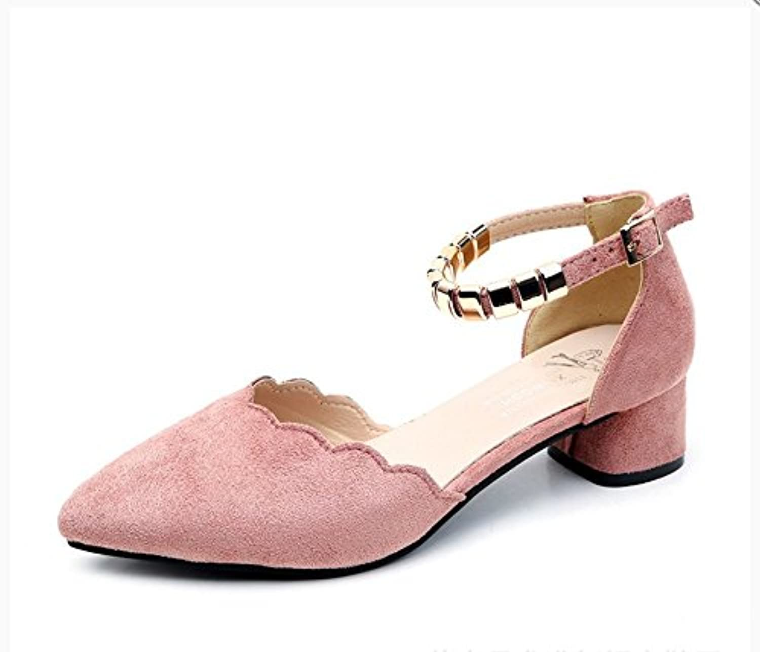 WYMBS Autumn and Winter GiftsWomen shoes Velcro Rough Heel