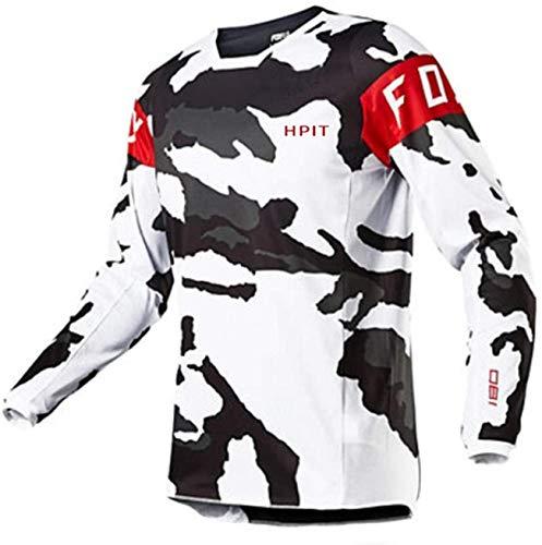 Ropa de Ciclismo de Carretera para Hombre, Camiseta Deity MTB, Camiseta de Motocross para Hombre Camiseta de Descenso de MTB MX Ciclismo de montaña Hpit Fox Camiseta de Secado rápido para Moto 3XL
