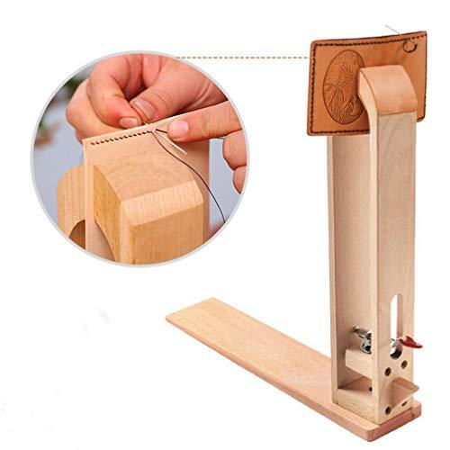 Malayas Leder nähen Werkzeug Holz Halteclip Behandlungen Crafts DIY Nähen Schnürsystem Nähkloben Nähpferd Basic zum festhalten des Leders beim Ledernähen
