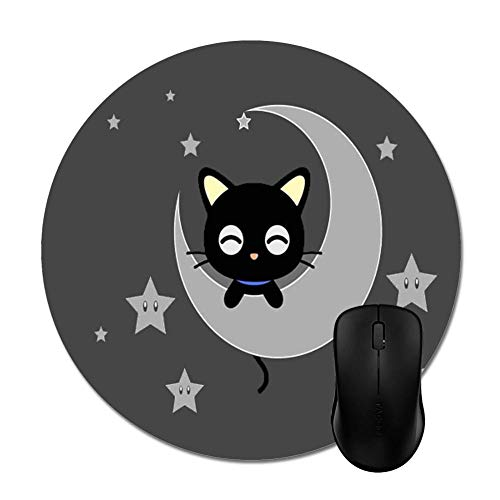 Goodaily Chococat on The Moon with Stars Mouse Pads Trendy Office Accessory 8inch