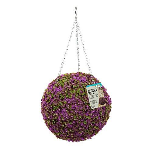 Trèfle violet 30 cm artificielle suspendue Topiaire en boule