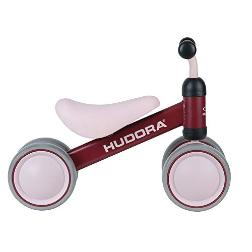 HUDORA Laufrad Mini, bordeaux | Laufrad ab 1 Jahr | 4 Räder | Lauflernrad Kinderlaufrad