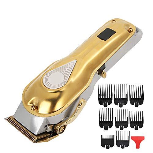 Cortadora de cabello, cortadora de cabello eléctrica de larga duración, cabezal de aceite dorado para peluquería