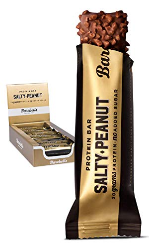 Barebells Proteinriegel – köstliche Eiweißriegel mit Schokolade – zuckerarm, 20 Gramm Protein, ohne Palmöl – Salty Peanut, 12 x 55gr