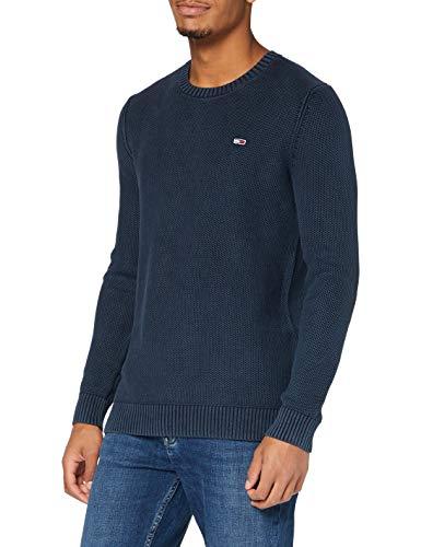 Tommy Hilfiger Tjm Essential Washed Sweater Maglione, Twilight Navy, S Uomo