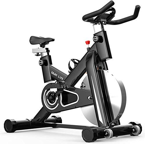 SXTYRL Indoor Ciclismo Bike Stationar Belt Drive Bicicletas Justable Equipo de Fitness para el Hogar Entrenamiento Cardio Bicicleta Entrenamiento - Negro