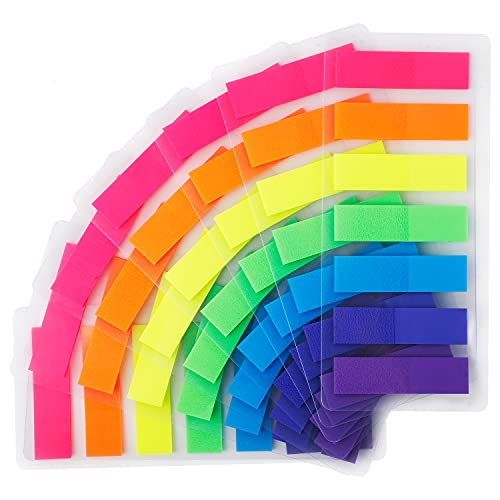 CYWVYNYT 980 unidades de tiras adhesivas para marcadores de páginas (7 colores)