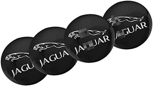 4 piezas de tapas de rueda de 65 mm, llantas de aluminio, insignias, tapas de logotipo, pegatinas, autopartes, para Jaguar XE XEL XF XJ XJL XFL I-Pace