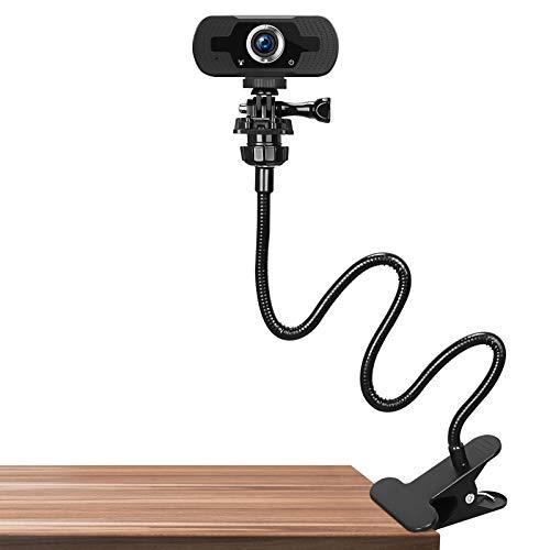 CHANONE 25 Zoll Webcam Ständer - Flexibler Schwanenhalsständer für die Tischmontage für Logitech Webcam Streaming Leuchten