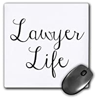 3dRose Mouse Pad Image of Lawyer Life Quote - 8 by 8-Inches (mp_319511_1) [並行輸入品]