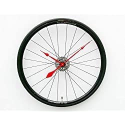 Bike Wheel Clock, unique, large, wall, clock, bike, clock, bicycle wheel clock, industrial wall clock, cyclist clock, upcycled bike parts clock, gift for him, gift for her