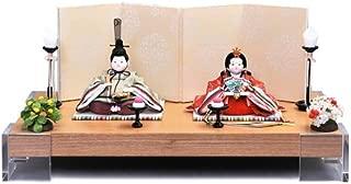雛人形 幸一光 ひな人形 コンパクト 平飾り 親王飾り 山櫻桃 (ゆすら) 目入頭 屏風F 正絹 衣裳着 アクリル足付飾台 h313-koi-116f