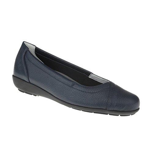 Natural Feet Damen Ballerina Christina | Echtes Hirschleder | Weite H | Hallux geeignet 39 blau