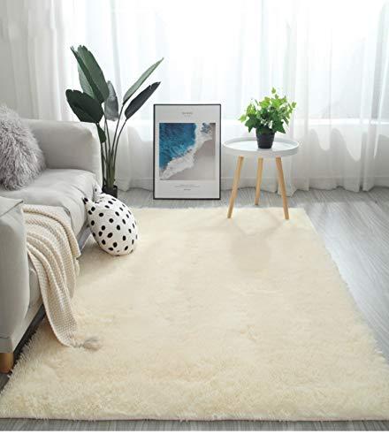 Leesentec ラグ 洗える ラグマット カーペット 絨毯 多色選 滑り止め付 約80*160cm (約2畳) 夏 冷房対策 床暖房対応 センターラグ抗菌 四角 長方形 カーペット(ベージュ )