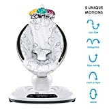 4moms mamaRoo 4 Baby Swing   Bluetooth Baby Rocker with 5 Unique Motions   Soft, Plush Fabric   Silver Plush