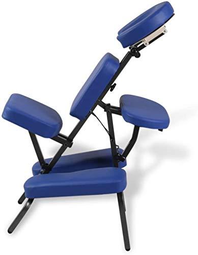 EBTOOLS - Sedia per massaggio, pieghevole, per tatuaggi, portatile, con ciotola per il viso, imbottitura per il petto, braccioli e 2 gambe imbottite, peso 150 kg, 122 x 81 x 48 cm