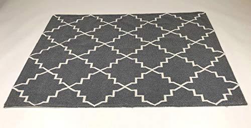 De'Carpet Alfombra Salón Dormitorio Estilo Nórdico Escandinava Bukle Gris (100x140cm)