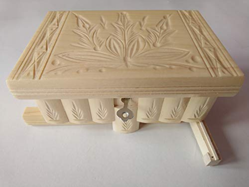 Neu Natur lackiert Holz Magie Rätsel Puzzle Geheimfach Schmuckkasten schön handwerk handarbeit Holz schatulle Zauber kästen