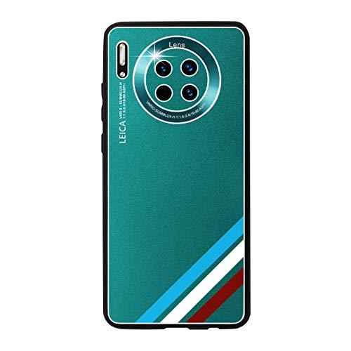 GOBY Coque Huawei mate 30 Case TPU Soft Housse Protection Mirror Absorption des Chocs Téléphone en Silicone métallique argenté pour Huawei mate 30 (verde)