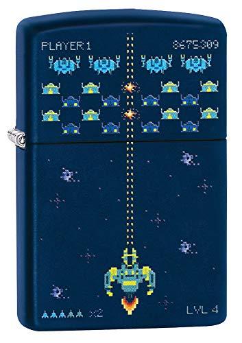 Zippo Pixel Game Design Navy Matte Pocket Lighter