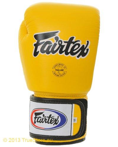 Fairtex Pelle da Boxe Tight Fit (bgv1Serie), Giallo - Giallo, 12oz.
