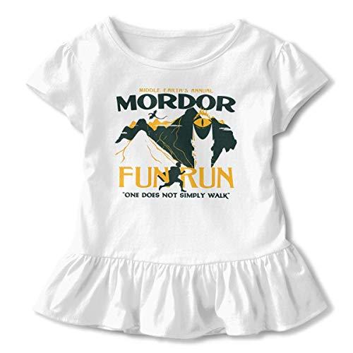 Mordor Fun Run Child Girls Short Sleeve T Shirt Printed Dress