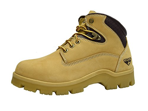 CONDOR Idaho Men's 6' Steel Toe Work Boot - Wheat, Size...