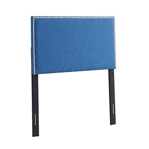 Urban Home Furniture Amanda Square Twin Blue Headboard