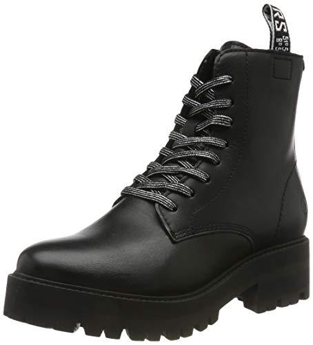 Tamaris Damen 1-1-25456-23 Combat Boots, Schwarz (Black 1), 39 EU