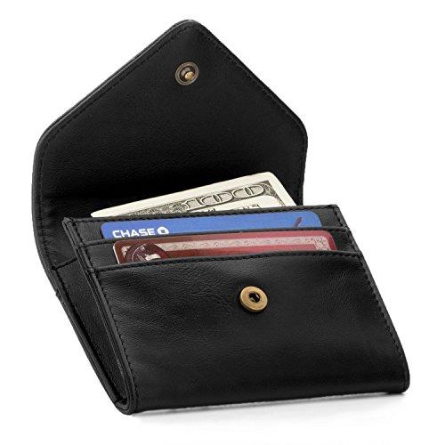 Otto Angelino Monedero y Organizador de Tarjetas de crédito de Cuero - Bloqueo RFID - Unisex