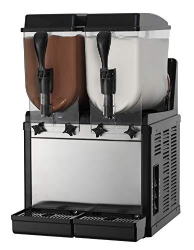 SPM dispensador de granito y sorbetes compacto SORBY DREAM SDT2 - Mecánica - 2 cubetas de 10 l. Refrigeración por aire - blanco o negro a elegir