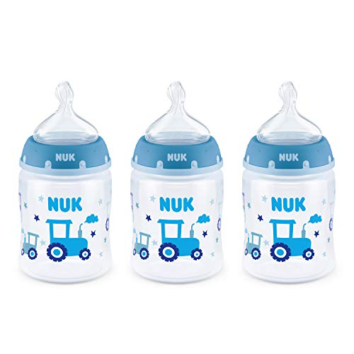 NUK Smooth Flow Anti-Colic Bottle, 5 Oz, 3 Pack