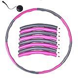 YAVO-EU Hula Hoop Fitness,Design Ondulato gommapiuma, Staccabile a 8 sezioni Pneumatico da Palestra per Perdita di Peso, Fitness, Massaggio con Mini Metro a Nastro