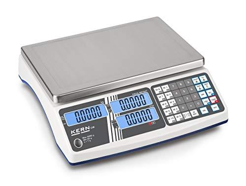 Kern CIB 3K-4 - Robusta balanza cuentapiezas, Campo de pesaje [Max]: 3 kg, Lectura [d]: 0,2 g